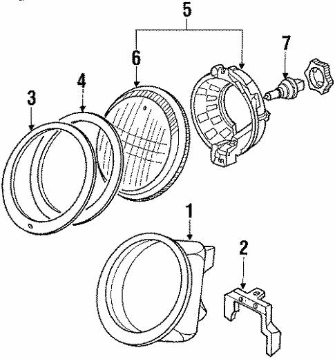 Headlamp Components For 1989 Porsche 911