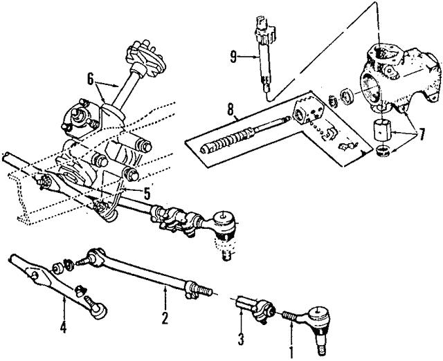 steering gear - ford (6c2z-3504-aarm)