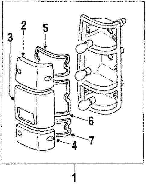 Tail Lamps for 1991 Isuzu Pickup | World OEM Parts Subaru