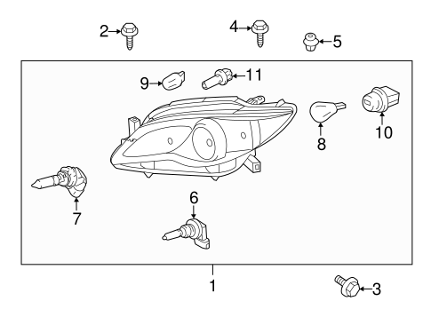 Headlamp Components for 2011 Toyota Avalon #0