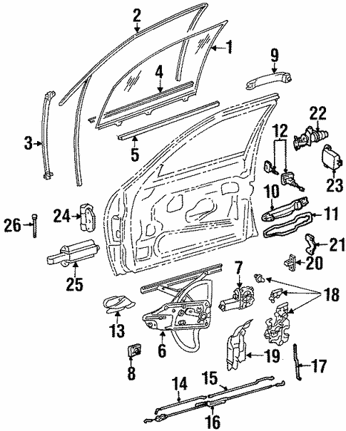 Lock & Hardware for 1994 Mercedes-Benz S 420 #0