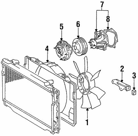 1997 Toyota Tacoma Radiator Diagram