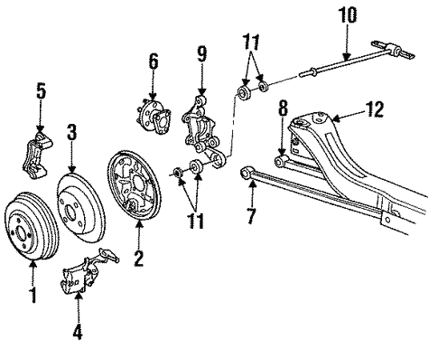 Rear Brakes for 1992 Saturn SC #0