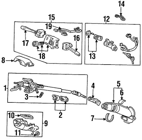 Lock Assembly, Steering
