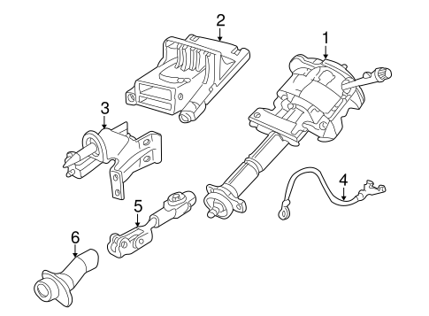 Steering Column Assembly for 2006 Buick Rendezvous | GM