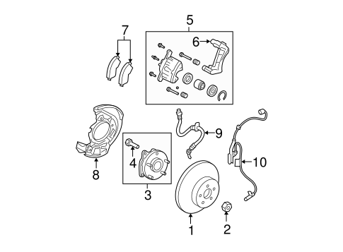 BRAKES/BRAKE COMPONENTS for 2007 Toyota RAV4 #1