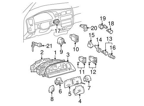 Genuine Oem Air Bag Components Parts For 2004 Toyota Tacoma Base