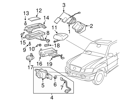 Electrical Components For 2005 Lexus Lx470