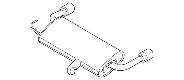 muffler w  tailpipe