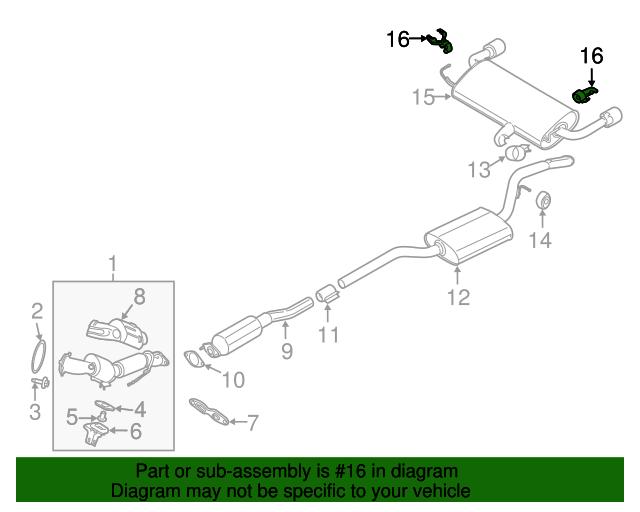 Genuine Ford Muffler W//Tailpipe Mount Bracket CV6Z-5K291-K