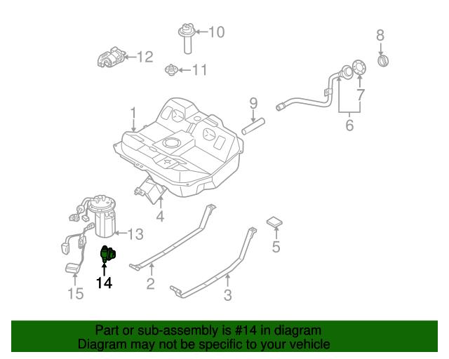 Genuine Fuel Pressure Regulator 1998-2004 for Kia Sephia Spectra 0K2A1-13280
