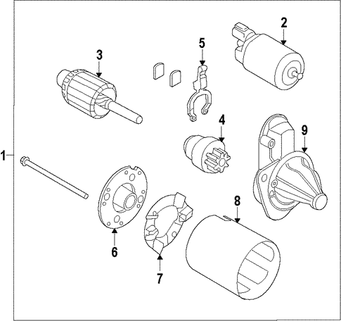 Starter for 2013 Hyundai Accent #0