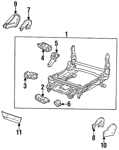 BODY/TRACKS & COMPONENTS for 1996 Toyota Land Cruiser #1