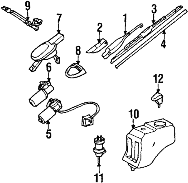 Wiper Arm - Mercedes-Benz (124-820-38-44)