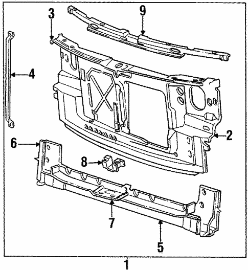 Radiator Support for 1993 Chrysler Town & Country #0