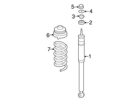Shocks & Components for 2008 Mercedes-Benz E 320 #1