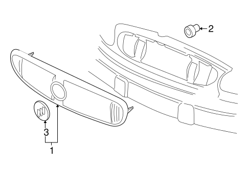 Grille Components For 2002 Buick Century