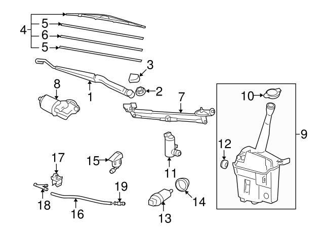 2003 2019 Toyota Wiper Arm Cap 85292 Aa010