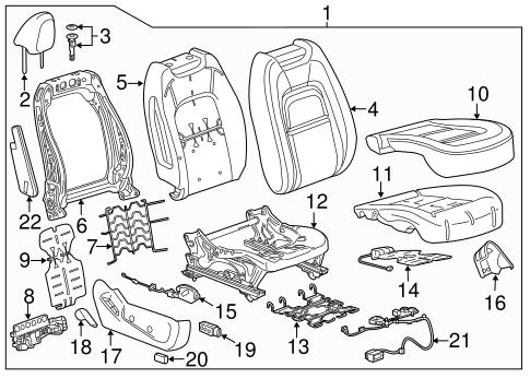 oem 2015 gmc canyon power seats parts gmpartsonline net 1999 GMC Sierra Electrical Diagram electrical power seats for 2015 gmc canyon 1