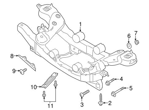 Rear Suspension/Suspension Mounting for 2013 Ford Escape #2