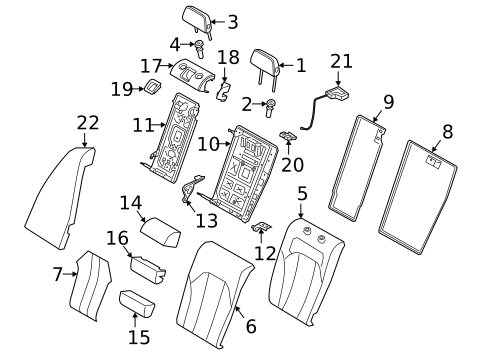Rear Seat Components for 2020 BMW M340i #2