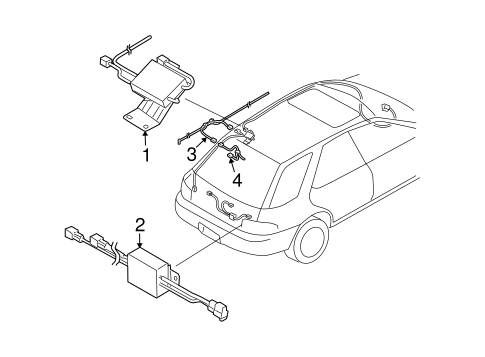 Antenna Radio For 2004 Subaru Impreza