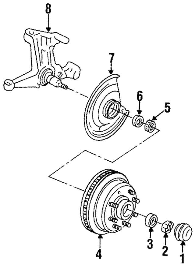 1984 1995 Gm Steering Knuckle 6274260