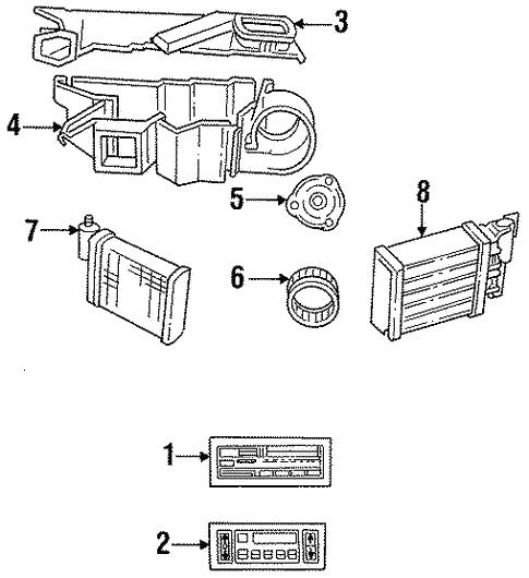 Condenser, Compressor & Lines for 1990 Chrysler New Yorker ... on