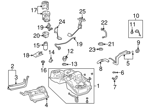 fuel system components for 2001 lexus ls430