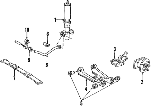 Rear Suspension/Rear Suspension for 1992 Buick Riviera #2