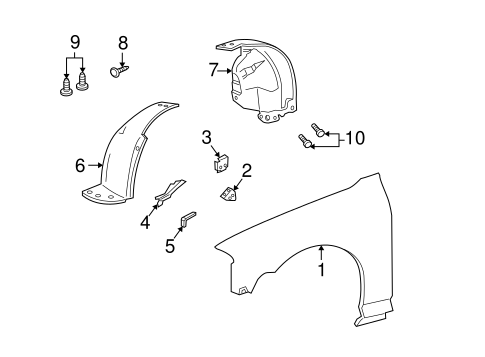 fender  u0026 components for 2006 lincoln ls