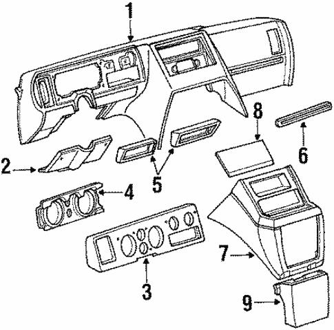 Oem 1989 Chevrolet G30 Instrument Panel Parts