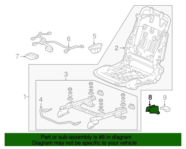Honda Genuine 81106-T2F-A31ZA Seat Foot Cover