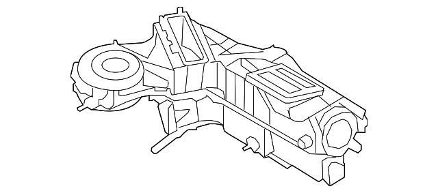 2008 2010 Ford Evaporator Assembly 9c3z 19b555 C