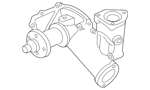 Genuine Ford Water Pump Assembly F81z 8501 Fa