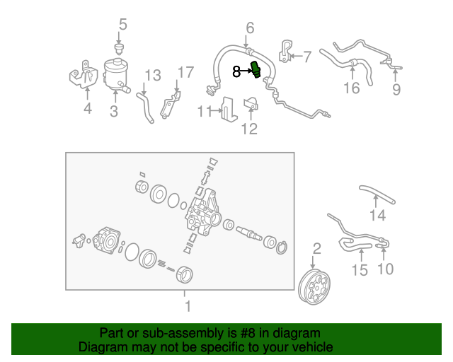 Switch Assembly, Power Steering Pressure