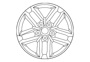 Wheel, Alloy - Kia (52910-1M360)