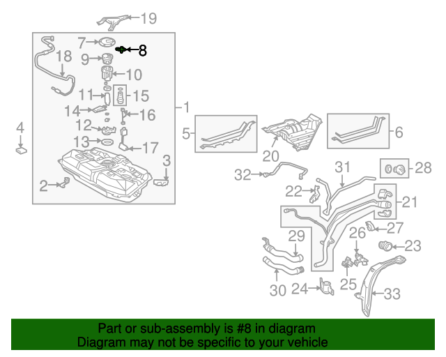 TOYOTA OEM Fuel System-Suction Tube Retainer Clip 7724106020
