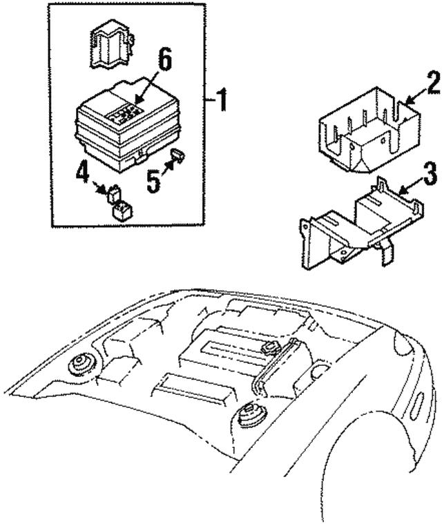 1998 2001 Kia Sephia Fuse Relay Box 2k2aa 67jb0c