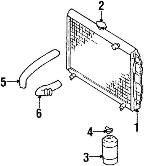 Radiator Components For 1991 Isuzu Trooper