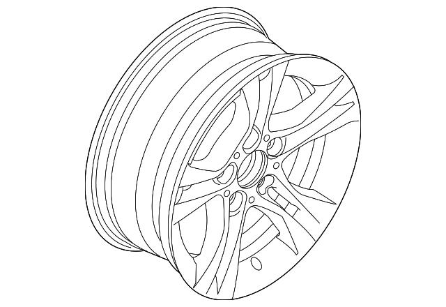 2012 2018 Bmw Wheel Alloy 36 11 6 796 247