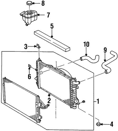 oem radiator & components for 2002 saturn sl1 ... 94 saturn sl2 engine diagram 200 saturn sl2 engine diagram
