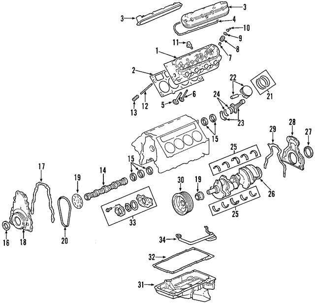 Engine Camshaft - GM (12625436)
