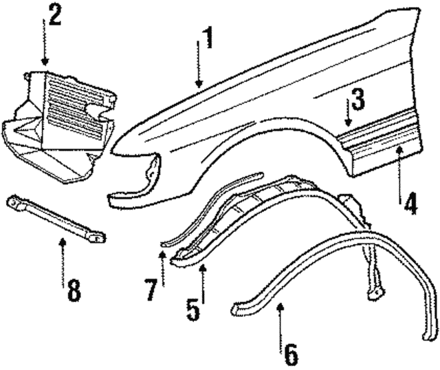 Filler Panel - Mercedes-Benz (126-884-10-35)