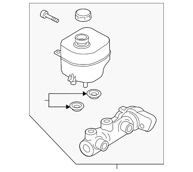 2017 2019 Ford Master Cylinder Hc3z 2140 A