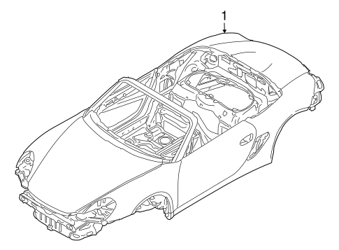 Body Shell for 2008 Porsche Boxster #0