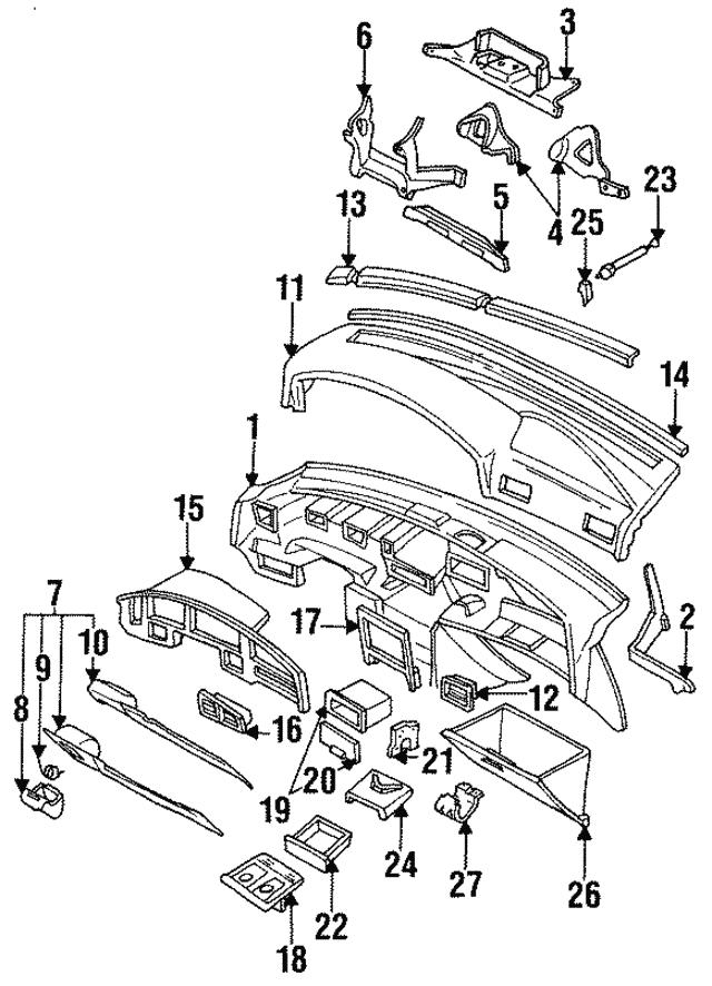 1990 1994 Subaru Legacy Radio Pocket 66130aa050