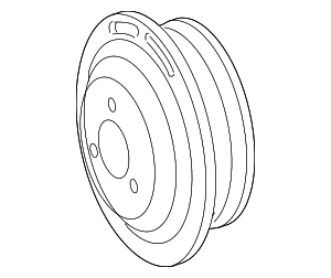 Pulley - Mercedes-Benz (000-466-10-15)