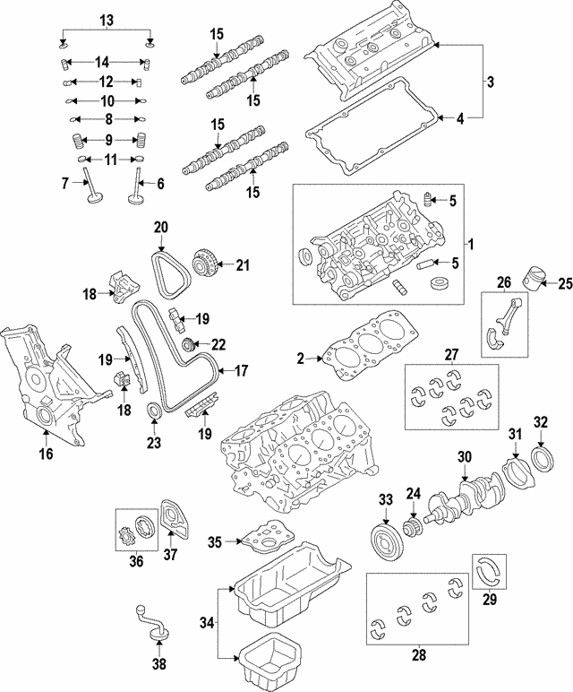 2006 2018 Lexus Intake Camshaft 13501 31081