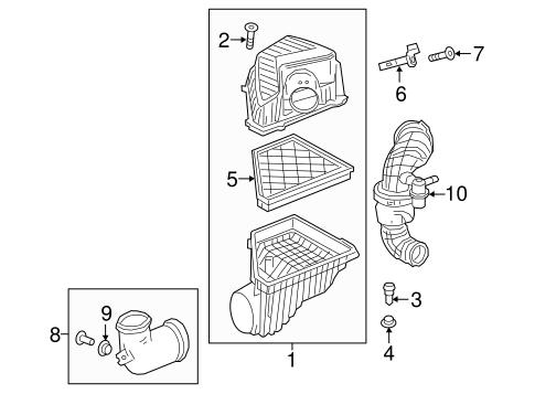 traverse engine diagram air intake for 2019 chevrolet traverse gmpartsdirect com  air intake for 2019 chevrolet traverse